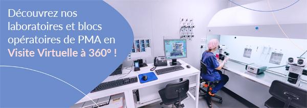 Découvrez nos laboratoires et blocs opératoires de procréation médicalement assistée en Visite Virtuelle à 360º !