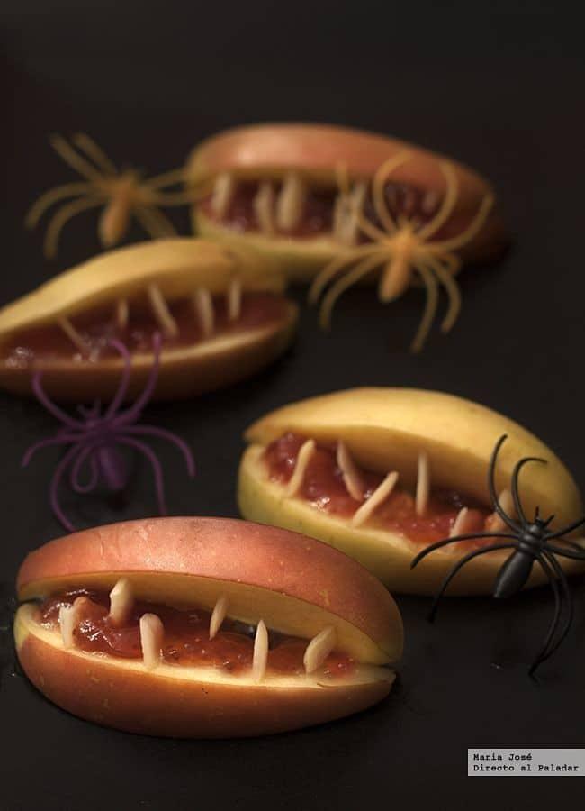 Bocas de manzana terroríficas