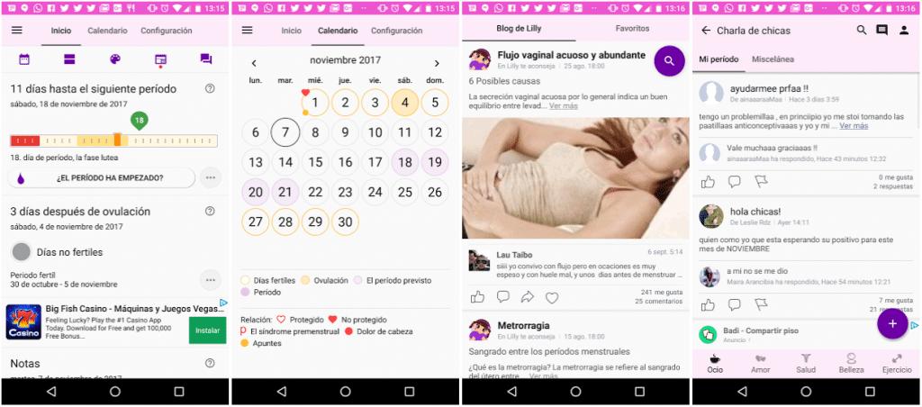 Calendario Menstrual, Periodo Menstrual – Lilly